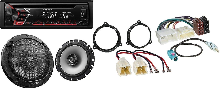 Autoradio Einbausatz fü r Dacia Sandero Logan Duster Access mit Pioneer CD USB MP3 DEH-S100UB Heinze Elektronik