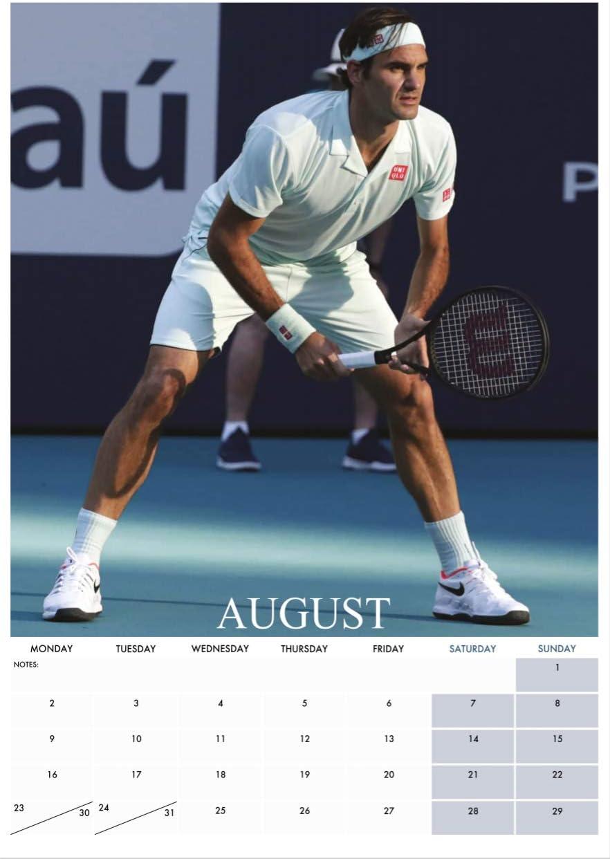 Amazon Roger Federer 21 Calendar ロジャー フェデラー 21年 カレンダー Oc アイドル 芸能人グッズ 通販