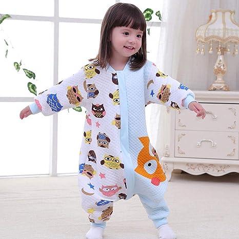 Saco de dormir para bebé con piernas divididas, pijama para niños ...