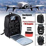 IGEMY Drone Backpack Travel Carrying Bag,Bag Backpack Portable Shoulder Carrying Case for Parrot Bebop 2 Power FPV Drone (Black)