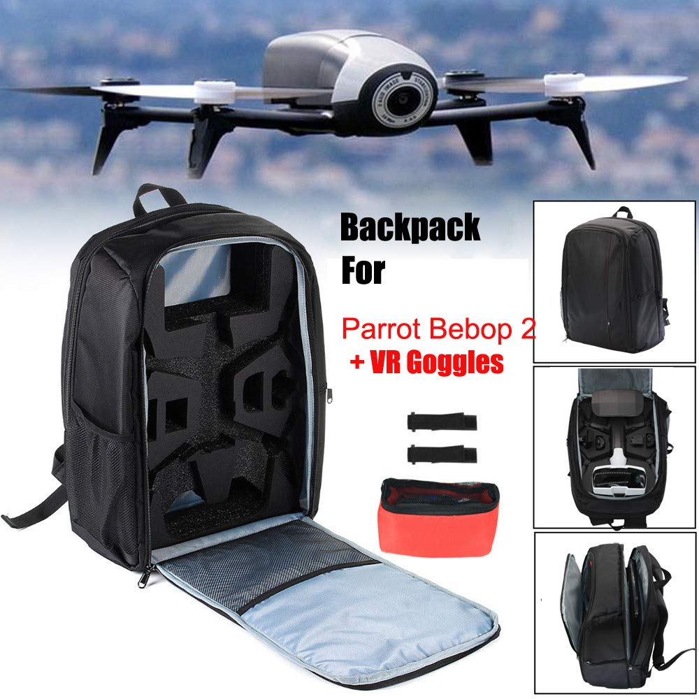 Glumes Drone Shoulder Bag Waterproof Drone Protective Carrying Box, Hardshell Case Stock For Parrot Bebop 2 + FPV Drone, Remote Control Battery and Other Accessories