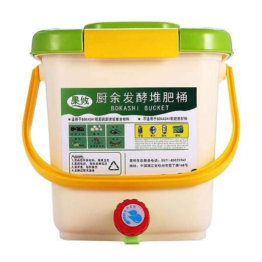 Cubo de basura para compost de 12 litros para cocina, residuos de ...