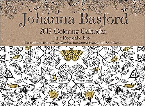Printable Coloring Calendar 2017 Free : Johanna basford 2017 coloring day to calendar: