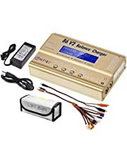 HTRC B6 V2 80W 6A DC RC Multi-Charger for LiPo LiIon Life NiCd NiMH LiHV PB Smart Battery High Power Circuit Terminal Voltage Control with AC Adapter