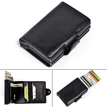 Kreditkarten Halter Rfid Blockierung Dünn Brieftasche Pu