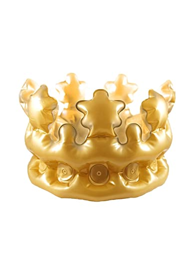 Inflatable Adult Gold King Queen Crown Fancy Dress Accessory Stag Hen  Costume Party  Amazon.co.uk  Toys   Games 879bb3630638
