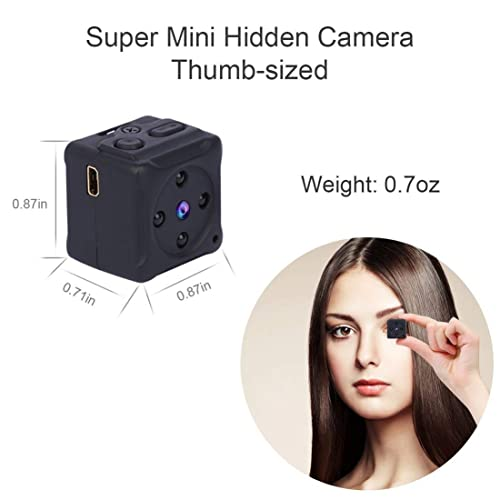 Mini Spy Hidden Camera,NIYPS 1080P Portable Small HD Nanny Cam with Night Vision and Motion Detective,Perfect...
