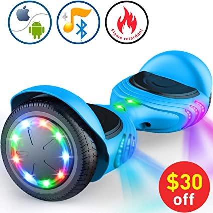 Amazon.com: TOMOLOO Hoverboard con altavoz Bluetooth LED ...