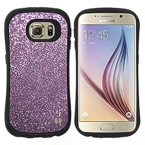 "Hypernova Slim Fit Dual Barniz Protector Caso Case Funda Para Samsung Galaxy S6 [Rosa reflectante polvo Winter X-Mas""]"