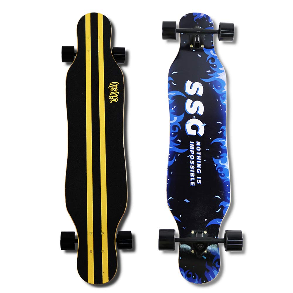 DINBIN Longboard Skateboard 41 Inch Drop Through Complete Cruiser for Dancing Cruising Freestyle by DINBIN