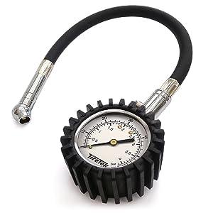 TireTek Flexi-Pro Tyre Pressure Gauge, Heavy Duty Car & Motorbike - 60 PSI