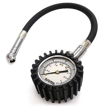 TireTek Flexi-Pro - Manómetro para neumáticos de coche y motocicleta (4 bar): Amazon.es: Coche y moto