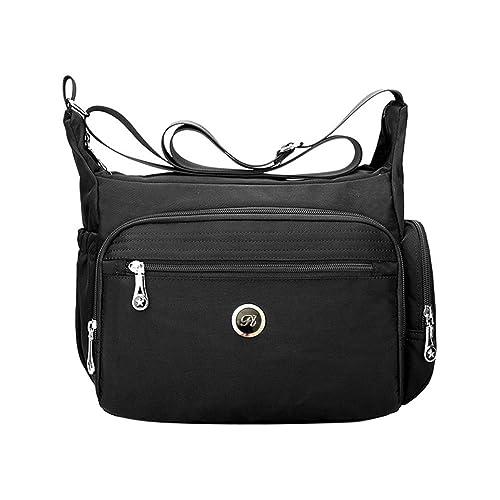 1cd8994b6eea Fabuxry Crossbody Handbag for Women Organize Pack Shoulder Bag Messenger  Purses (Black)