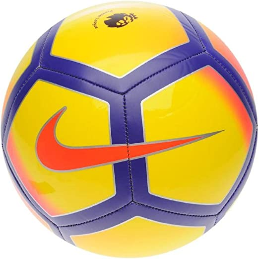 Balón de fútbol de la Premier League inglesa modelo Pitch., color amarillo/morado, tamaño talla 5: Amazon.es: Deportes y aire libre