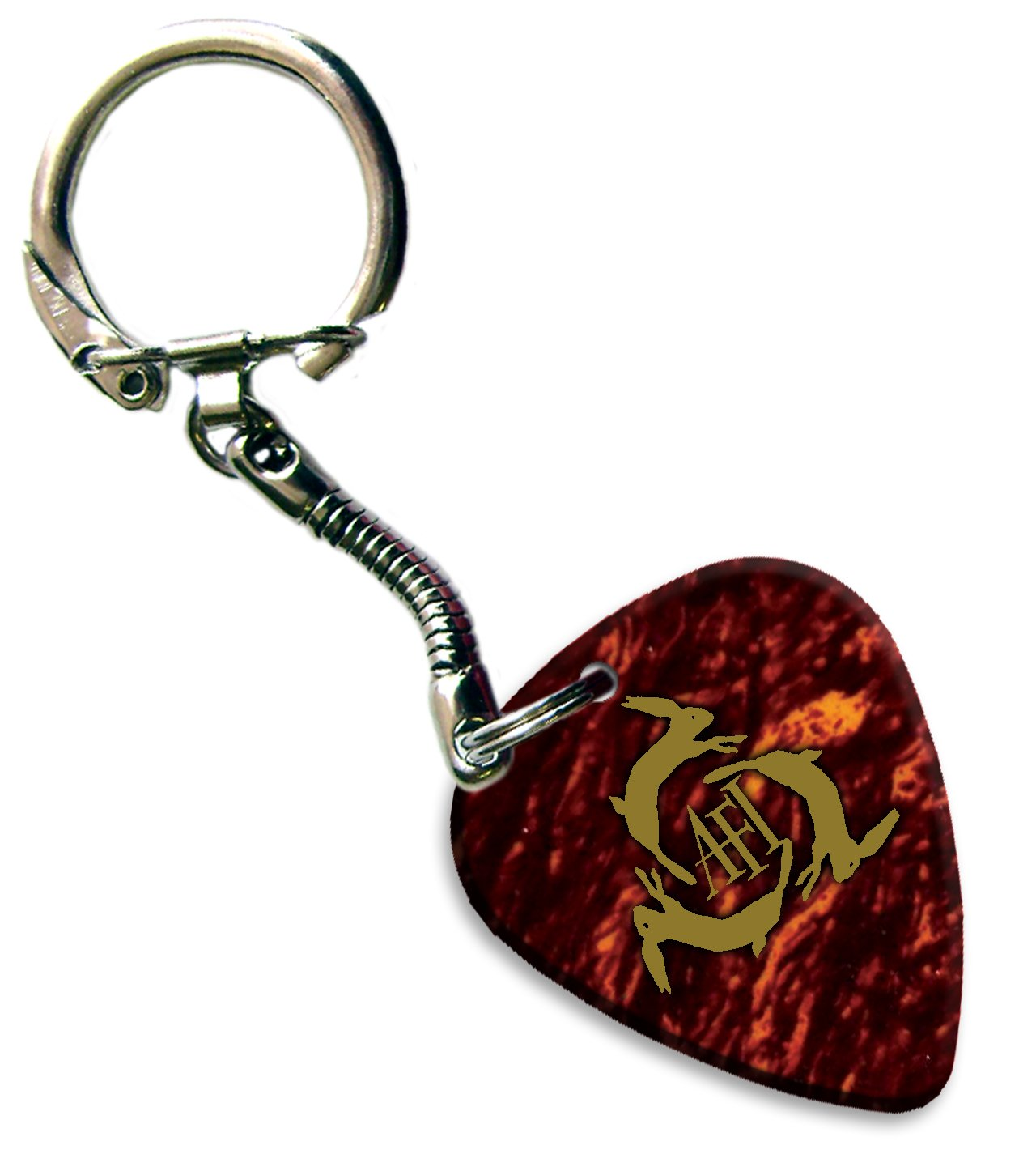 Amazon.com: AFI A Fire Inside Gold Foil Printed Guitar Plectrum Keyring (Tortoise Shell) : Musical Instruments