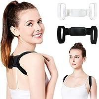 Invisible Back Posture Orthotics Shoulder Corrector Brace Belt Spine Support Body Unisex (Black)
