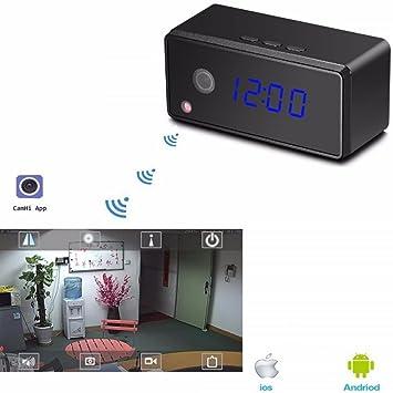 TrAdE shop Traesio®® Spy CAM Reloj Espía Full HD WiFi Smartphone Visón Nocturna Cámara