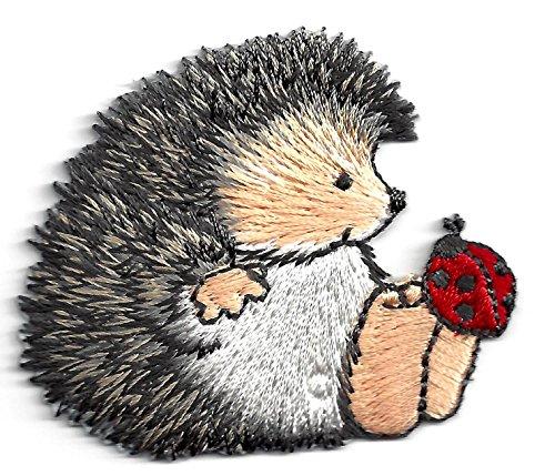 ANIMALS HEDGEHOG LADYBUG Embroidered Applique product image