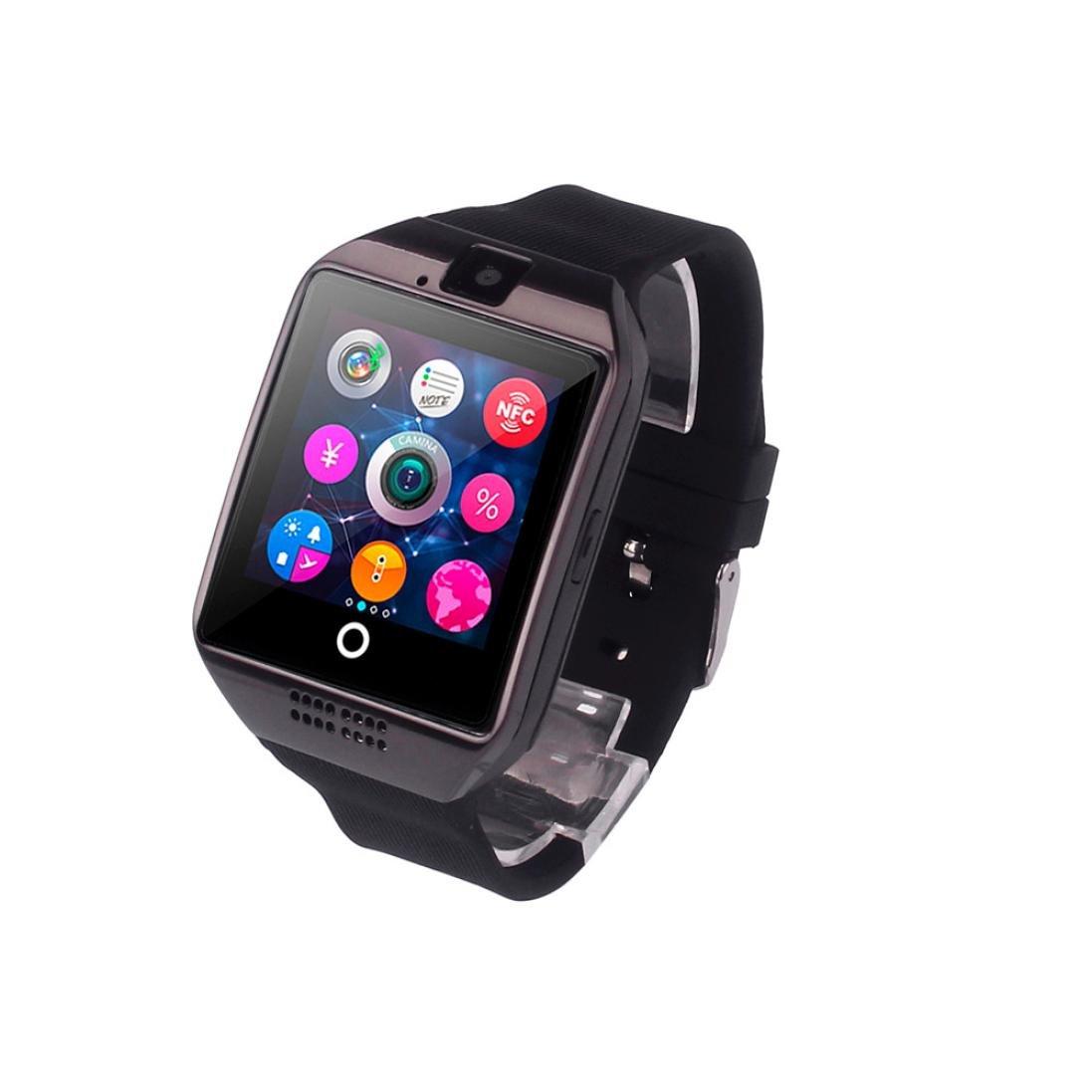 Reloj Inteligente Xinan Nuevo reloj inteligente Bluetooth Q18 Tarjeta SIM de soporte de cámara para teléfono inteligente Android (❤️Negro): Amazon.es: ...