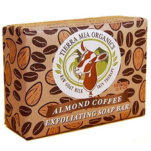 Tierra Mia Organics Almond Coffee Exfoliating Body Bar Soap, 3.8 Ounce Almond Organic Bar Soap