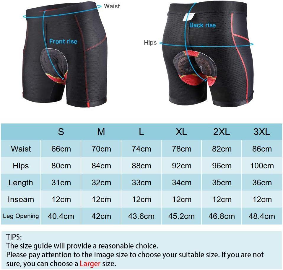 Pantaloncini Intimi da Ciclismo Biancheria Intima Bicicletta con 3D Gel Imbottito Traspirante e Asciugatura Rapida per Uomo MTB Ciclismo SKYSPER Pantaloncini da Ciclista Uomo