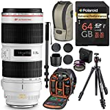Canon EF 70-200mm f/2.8L IS II USM Telephoto Zoom Lens for Canon SLR Cameras, Manfrotto Compact Light Aluminum Tripod, Ritz Gear Photo Backpack, Monopod, 64GB High Speed SD Card, and Accessory Bundle
