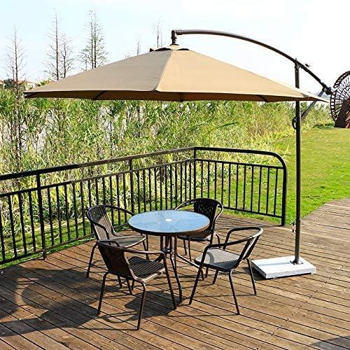 Brown QIQIHOME Patio Parasol Umbrella Hole Ring Cap Plug Set Coffee Plastic 2-in.