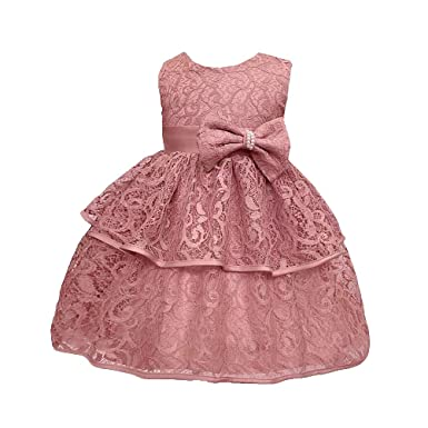 5b13eb6a8 Image Unavailable. Image not available for. Color: keaiyouhuo Toddler Baby  Girls Tulle Lace Baptism Dress Princess Birthday Party Wedding Pageant  Infant ...