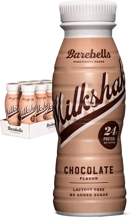 Batido Proteínas Barebells Sabor Chocolate (8 Botellas x 330 ml), Alto Contenido de Proteínas. Sin Azúcares Añadidos y Sin Lactosa, 24 g de Proteínas. ...