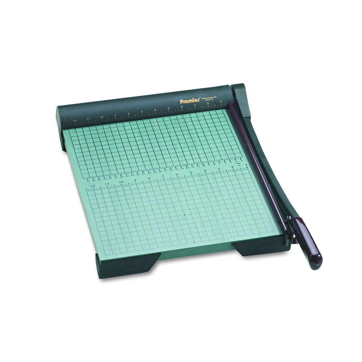 Premier Heavy-Duty Green Board Wood Trimmer, Cut Up to 20 Sheets at One Time, Steel Blades, 15 Inches, Green (PREW15)