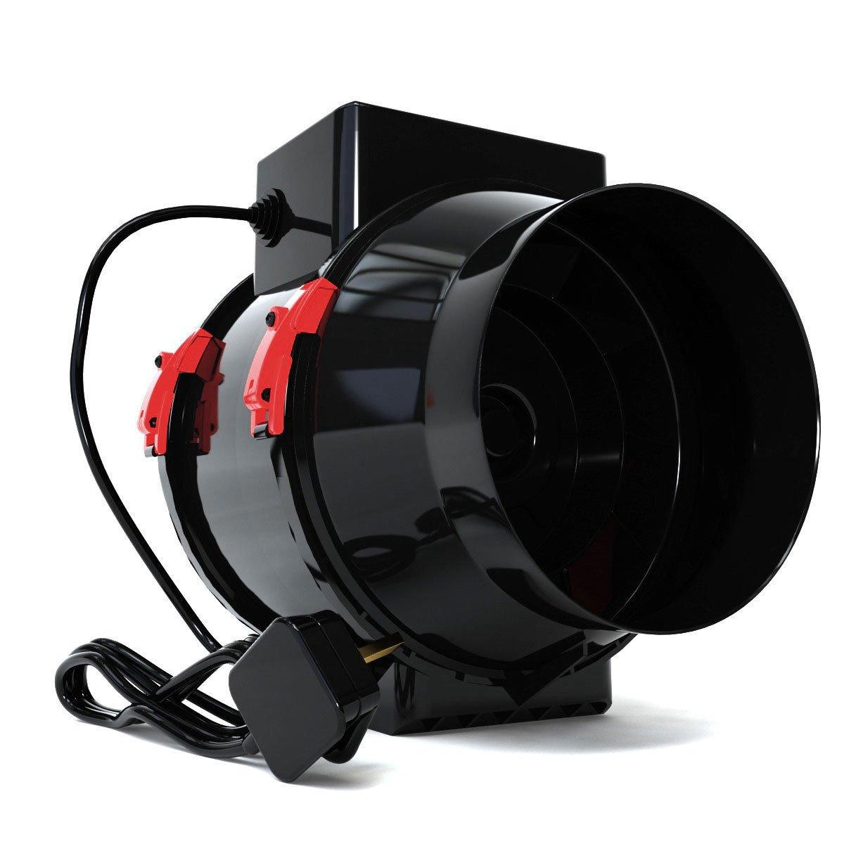 Extractor de tienda de campaña para filtro de carbón, 125 mm de diámetro, color negro, orquídea mixta: Amazon.es: Jardín