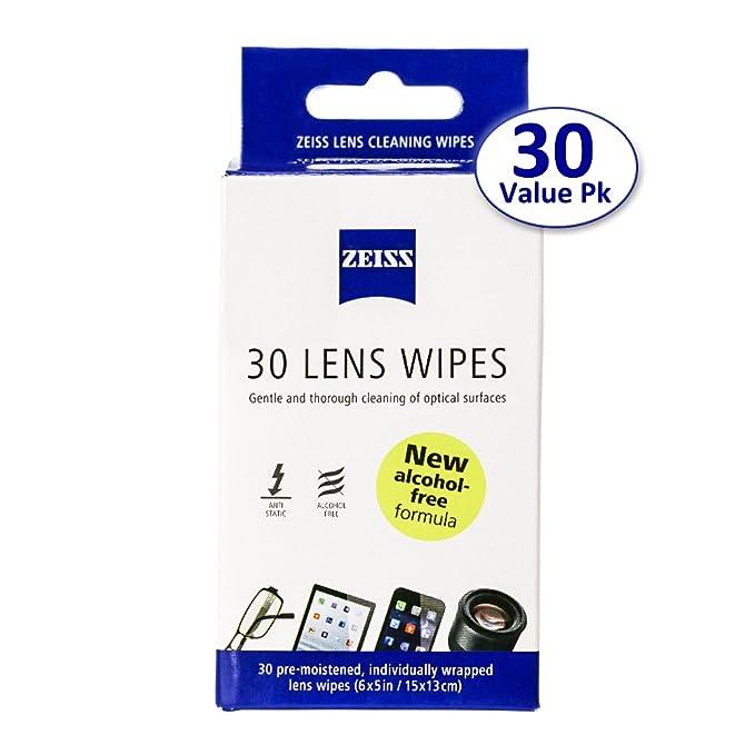 Zeiss toallitas limpiador de lentes prehumedecidas [2016 Nueva Fórmula Sin Alcohol]-Limpia las bacterias gérmenes sin rayas para gafas gafas de sol iPhone ...