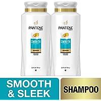 2-Pack Pantene Argan Oil Shampoo for Frizz Control, Smooth and Sleek, 25.4 Fl Oz
