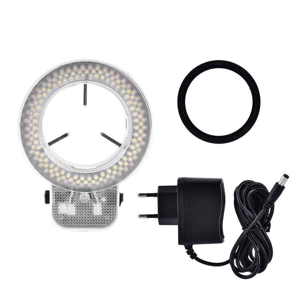 LED Ring Light,Microscope Camera 144 LED Beads Light Source Brightness Adjustable Ring Lamp (US Plug 110V) by Yanmis
