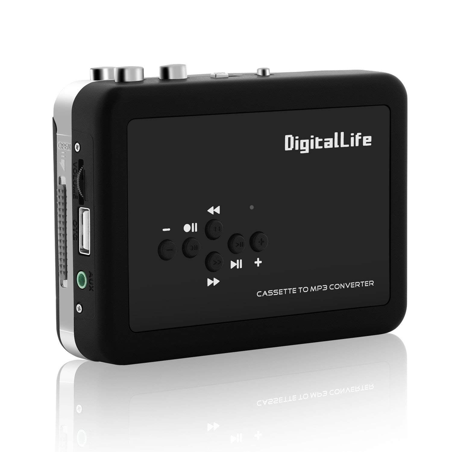 DigitalLife Lecteur Enregistreur Cassette Audio - Walkman Cassette MP3 Enregistreur - Convertisseur Cassette MP3 - Convertisseur Cassette Audio en MP3 (Pas de PC, Driver requis)