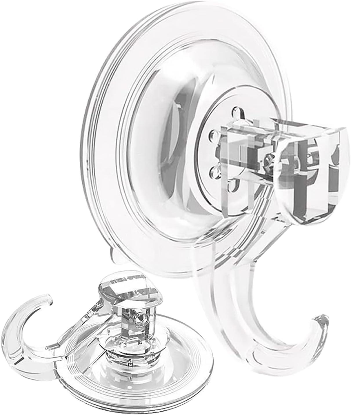 Gancho Ventosa 6 Piezas Transparente Plástico Potente Adsorción al Vacío Gancho,No Se Necesitan Clavos, Pegamento ni Tornillos,para Baño Pared Cocina Puertas Multiusos Colgar Gancho