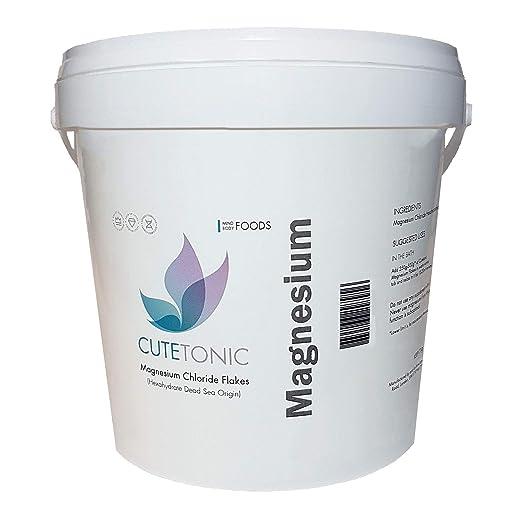 Cutetonic Hojas de cloruro de magnesio (Magnesium Chloride Flakes) ultra puro, origen del mar muerto (1KG): Amazon.es: Salud y cuidado personal