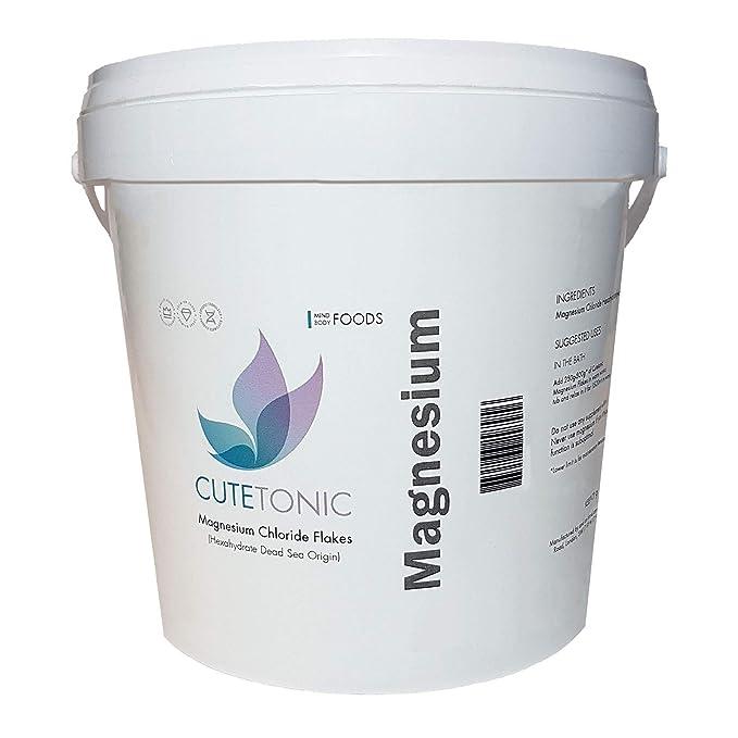 Cutetonic Hojas de cloruro de magnesio ultra puro, origen del mar muerto (5KG): Amazon.es: Salud y cuidado personal