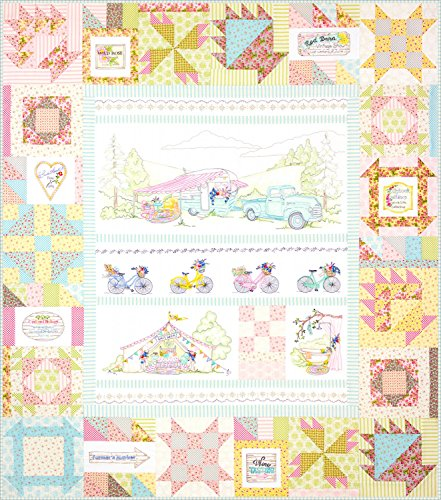 Girls' Getaway Full Set by Meg Hawkey From Crabapple Hill Studio #2559 - 5 Embroidery Patterns & Quilt Assembly Pattern