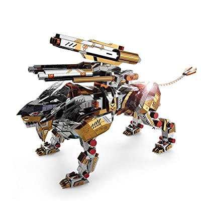 Microworld 3D Metal Nano Puzzle A Roaring Lion Assemble Model Kit D001 DIY 3D Laser Cut Jigsaw Toy: Toys & Games