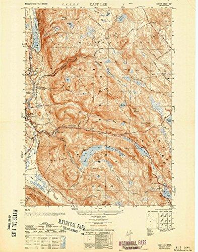 Massachusetts Maps | 1950 East Lee, MA USGS Historical Topographic Map |Fine Art Cartography Reproduction - Map Massachusetts Lee