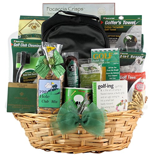 GreatArrivals Deluxe Golfer Father's Day Golf Gift Basket, 7 (Greatarrivals Fathers Day)