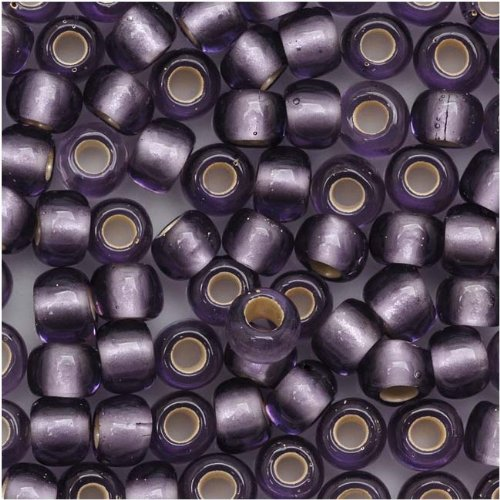 Beads Toho Treasure (Toho Round Seed Beads 6/0#39F 'Silver Lined Frosted Lt Tanzanite' 8 Gram Tube)