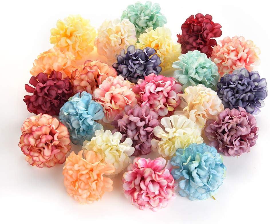 silk flowers in bulk wholesale Fake Flowers Heads Artificial Silk Rose Flower Head Wedding Home Decoration DIY Scrapbooking Handmade Craft Accessories Fake Flowers 30pcs 4.5cm Colorful
