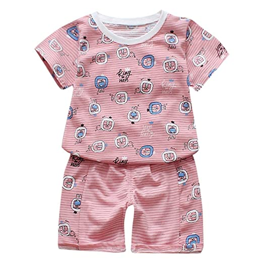 90477ccb Amazon.com: Huzned Toddler Baby Kids Boys Outfits Sets, Lions Stripe ...