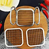 Blue Stones Stainless Steel Apple Cutter Slicer Vegetable Fruit Shredders Potato Chips Cutter Manual Strip Chopper Kitchen Tools