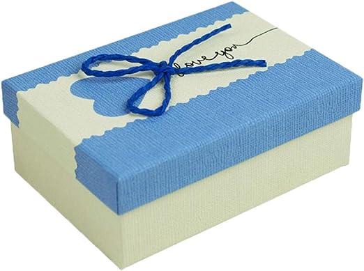 Material de cartón con tapa caja elegante caja de regalo: Amazon.es: Hogar