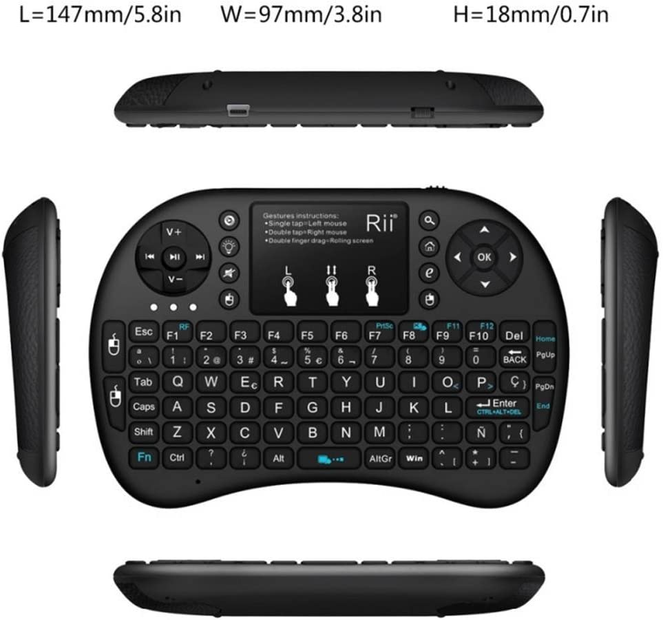 2.4GHz Mini Backlight Wireless Keyboard with Touchpad