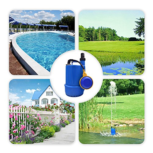 SONGJOY Submersible Utility Pump 1/6 HP Clean Dirty Sump Pump with Float Switch for Swimming Pool Pond Basement Drainage Garden Irrigation Transfer by SONGJOY (Image #6)