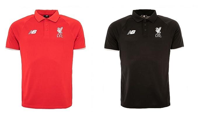 New Balance - Camiseta deportiva - con botones - para hombre negro ...